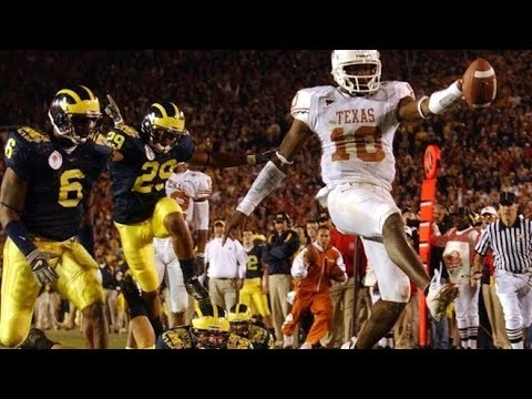 2005 Rose Bowl #6 Texas vs #13 Michigan No Huddle - YouTube