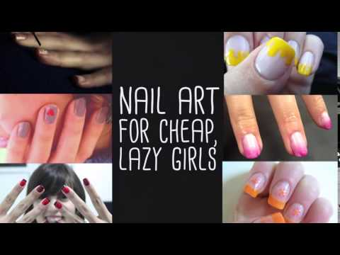 Nail Art For Lazy Girls.mp4 - YouTube