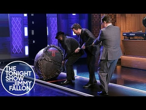Dwayne Johnson Pushes Jimmy to Take The Titan Games Challenge