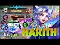SAVAGE!! Side Lane Harith 93.7% Win Rate. Just- Top 1 Global Harit - Mobile Legend: Bang Bang