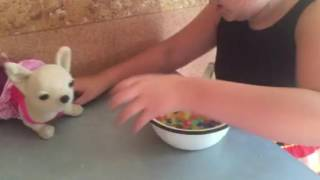 Катя вирощує шарики арбиз