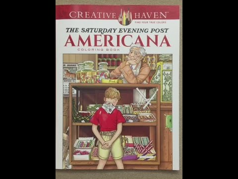 Creative Haven The Saturday Evening Post Americana flip through