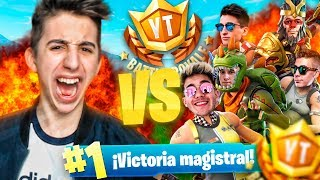 MI VICTORIA en el TORNEO DE YOUTUBERS (y SUS REACCIONES)!! FORTNITE: Battle Royale
