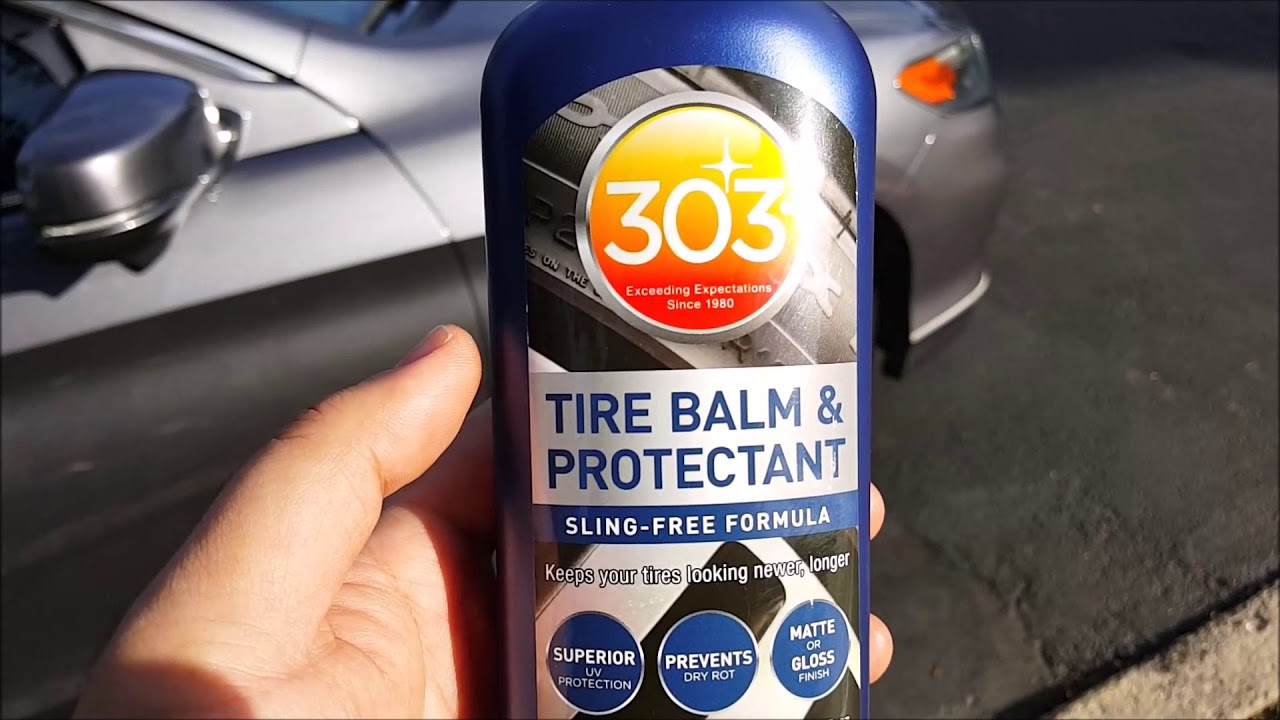 review and demo 303 tire balm and protectant youtube. Black Bedroom Furniture Sets. Home Design Ideas