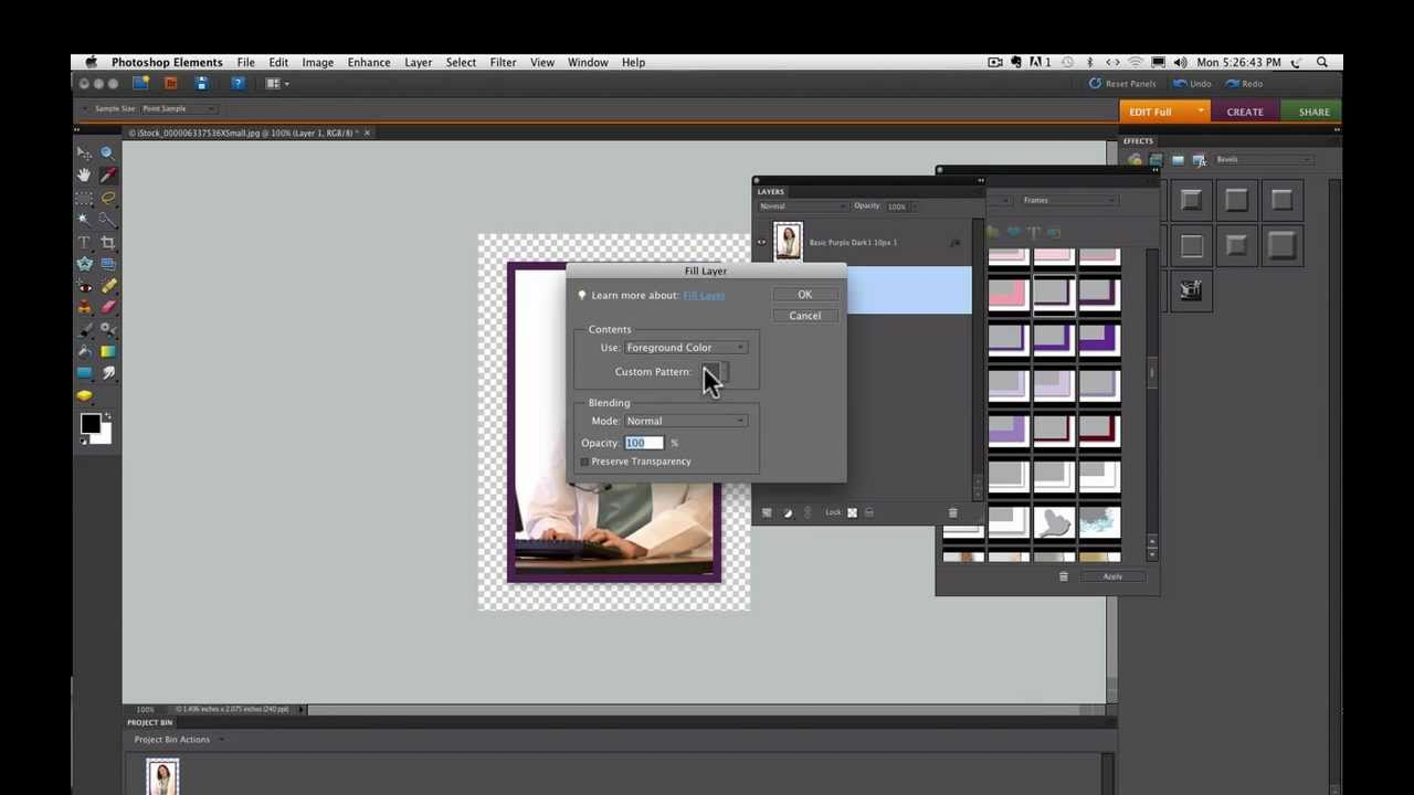 Photoshop Elements Tutorials- How To Add A Frame - YouTube