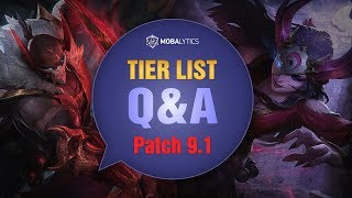 League of Legends Mobalytics Patch 9.1 Tier List Q&A: Welcome To Season 9