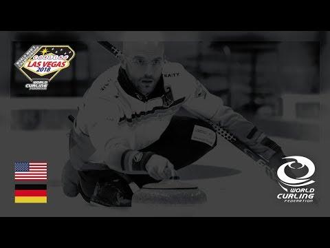 United States v Germany - Round-robin - 361º World Men's Curling Championship 2018