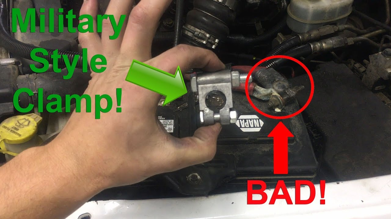 Battery Terminal Clamp Replacement Diy Any Vehicle Easy