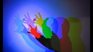 Colored Light Shadow-Additive light mixture // Homemade Science with Bruce Yeany