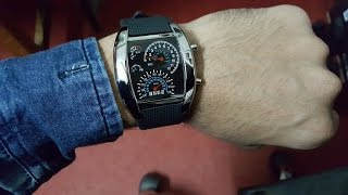 Speedometer Watch Review (Awesome Led Back-lit Watch )