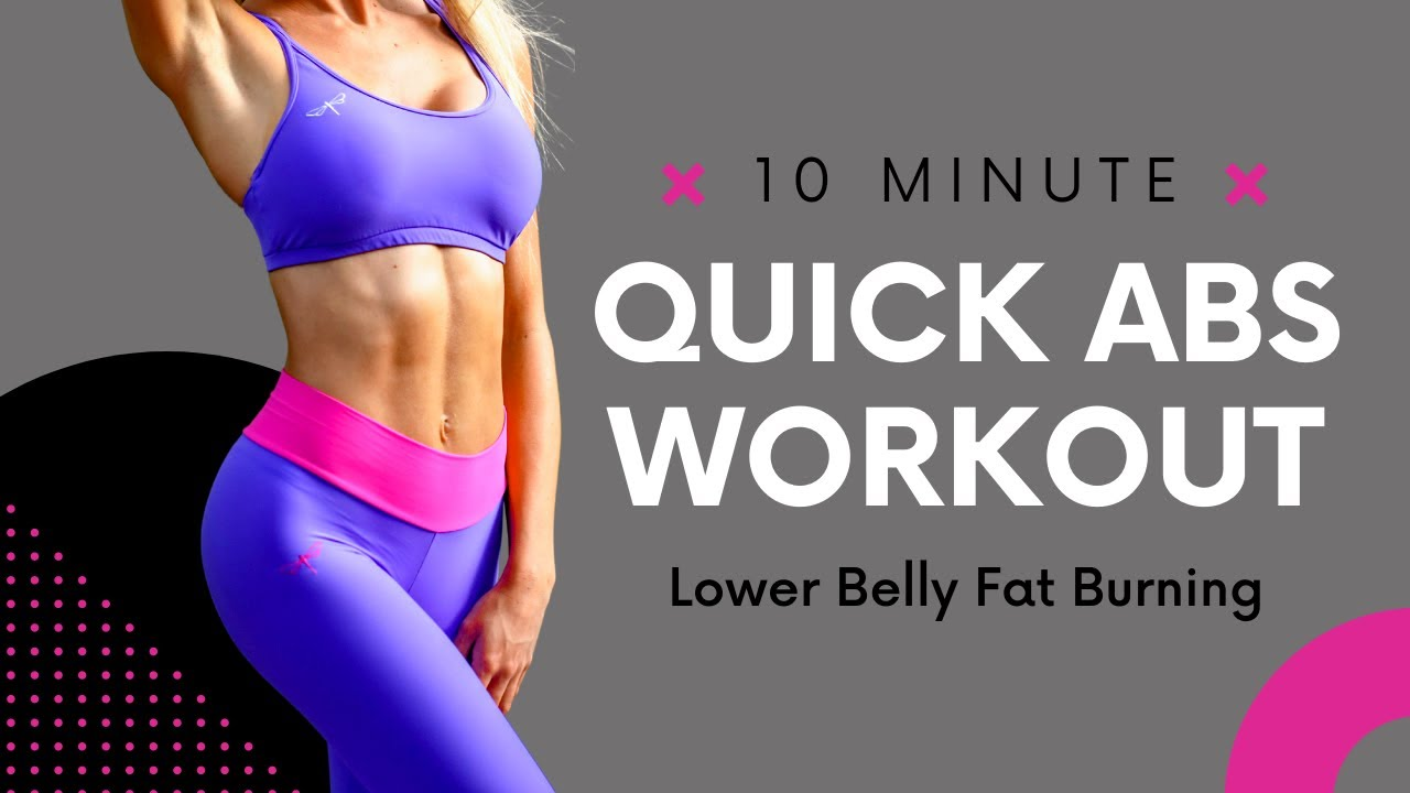 Lower Belly Fat Burning 🔥 Quick Abs Workout | No Equipment