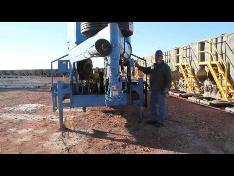 Ace Oilfield Sales HydraCat Hydraulic Catwalk Pipe Leveling System Demo