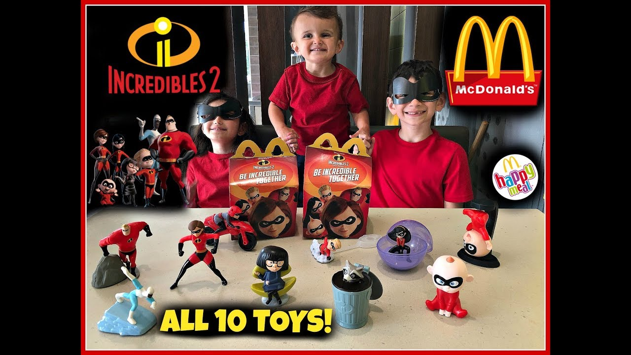Not Toys For 2018 From Moive : Incredibles movie mcdonalds happy meal toys june