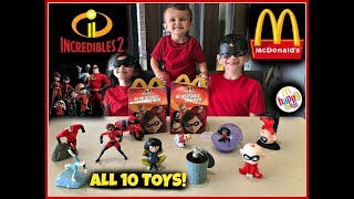 INCREDIBLES 2 Movie MCDONALDS Happy Meal Toys! June 2018 ALL 10 Toys!