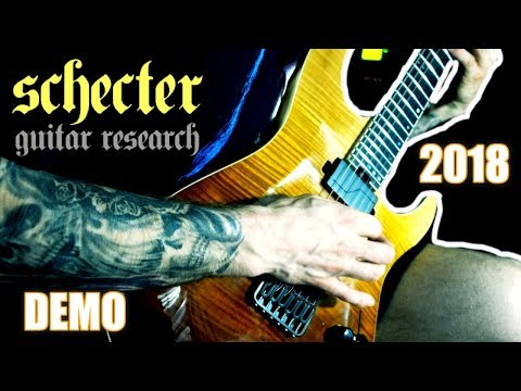 2018 SCHECTER C-1 SLS ELITE GUITAR DEMO