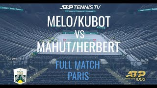 Melo & Kubot vs Herbert & Mahut - Rolex Paris Masters 2020