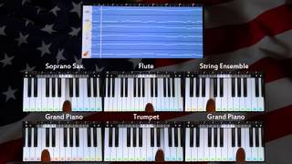 The Star Spangled Banner - USA National Anthem (Walk Band App Cover)