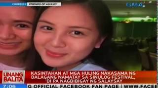 Family of Ashley Abad, who died in Sinulog, asks for boyfriends cooperation