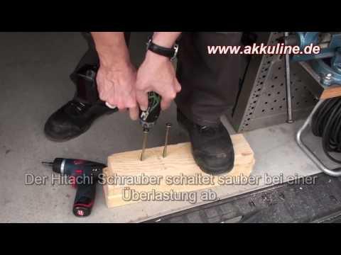 hitachi db 10 dl 10 8v akkuschrauber im vergleich youtube. Black Bedroom Furniture Sets. Home Design Ideas