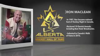 Alberta Hockey Hall of Fame Class of 2018 - Ron MacLean