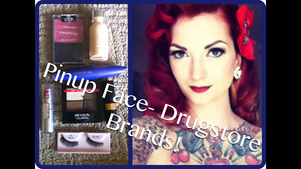 Drugstore vintage inexpensive pinup makeup tutorial by CHERRY DOLLFACE