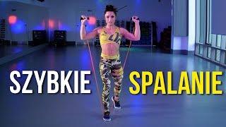 ĆWICZENIA ODCHUDZAJĄCE NA SPALANIE TŁUSZCZU  5 min Trening Całego Ciała z gumą fitness (Trecgirl)