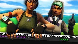 PIANO Playing makes GIRL PISSED on Fortnite