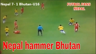 Nepal 7 VS 1 Bhutan ►  U16 Four Nations Tournament