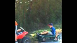 Jack falls off the trailer
