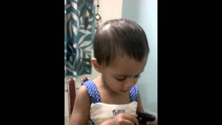 My 2 yr old daughter Ariana and her Bengali rhymes....video 1