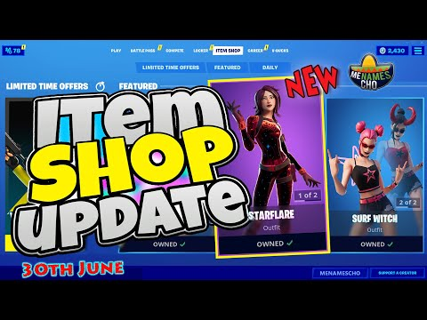 💥FORTNITE ITEM SHOP UPDATE ✨ Starflare Gameplay ⚡ LIVE - 30th June 2020 (Fortnite Battle Royale)