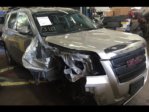 2015 GMC Terrain right front hit with air bag deployment time lapse repair