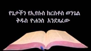 Amharic Audio Bible John የጌታችን የኢየሱስ ክርስቶስ ወንጌል ቅዱስ ዮሐንስ እንደጻፈው
