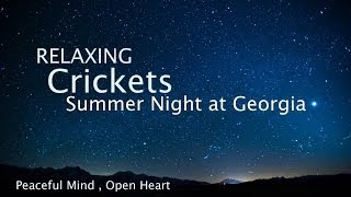 sons apaisants de la nature pour dormir, grillons une soirée d'été [musique relaxante]