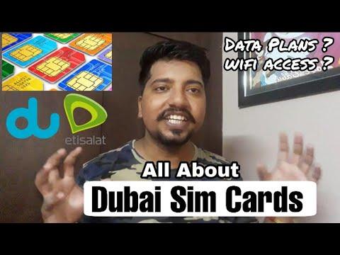 All about DUBAI SIM CARDS 📲 | Dubai Sim Card Data Plans | Sim at Airport | Hindi