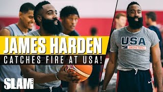 james harden catches fire at usa training camp mvp gets competitive in drills 🇺🇸
