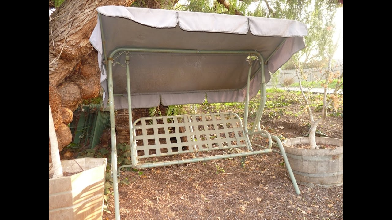 Himark Patio Swing Cushions, Seat Support And Canopy