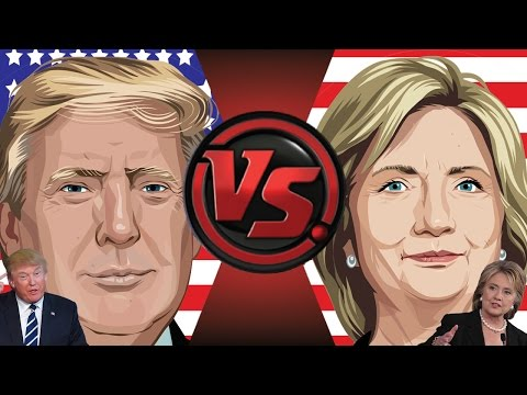 DONALD TRUMP vs HILLARY CLINTON! Cartoon Fight Club Episode 110