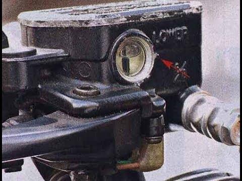 Ремонт смотровых окошек главных тормозных цилиндров мотоцикла
