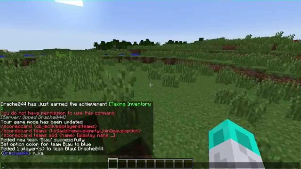 UPDATE Minecraft Spielernamen über Dem Kopf Und Im Chat Färben - Minecraft spieler kopfe geben command