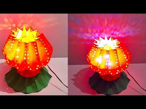 DIY - Lotus shape Lantern/Tealight Holder from paper | DIY Christmas Decorations Idea