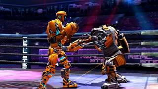 REAL STEEL WORLD ROBOT BOXING GOLD-METRO vs ATOM (ЖИВАЯ СТАЛЬ)