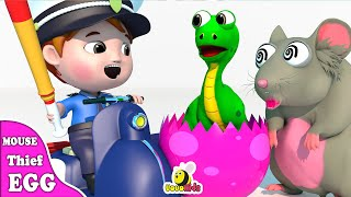 Episodes Mouse Thief Dinosaur Eggs Captured by Police | Learn Wild Zoo Animals | Cartoon for Kids
