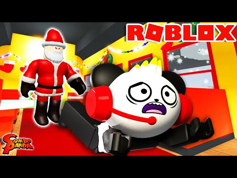 DO I HELP SANTA! Scary Christmas Story in Roblox Let's Play with Combo Panda!?