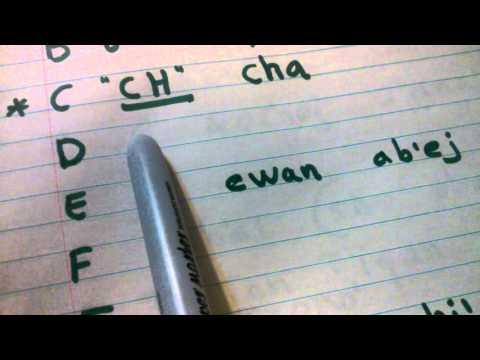 Alfabeto Maya Qanjobal parte 1-2  Mayan alphabet