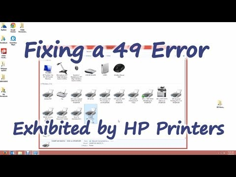 Fixing a 49 Error on HP Printers