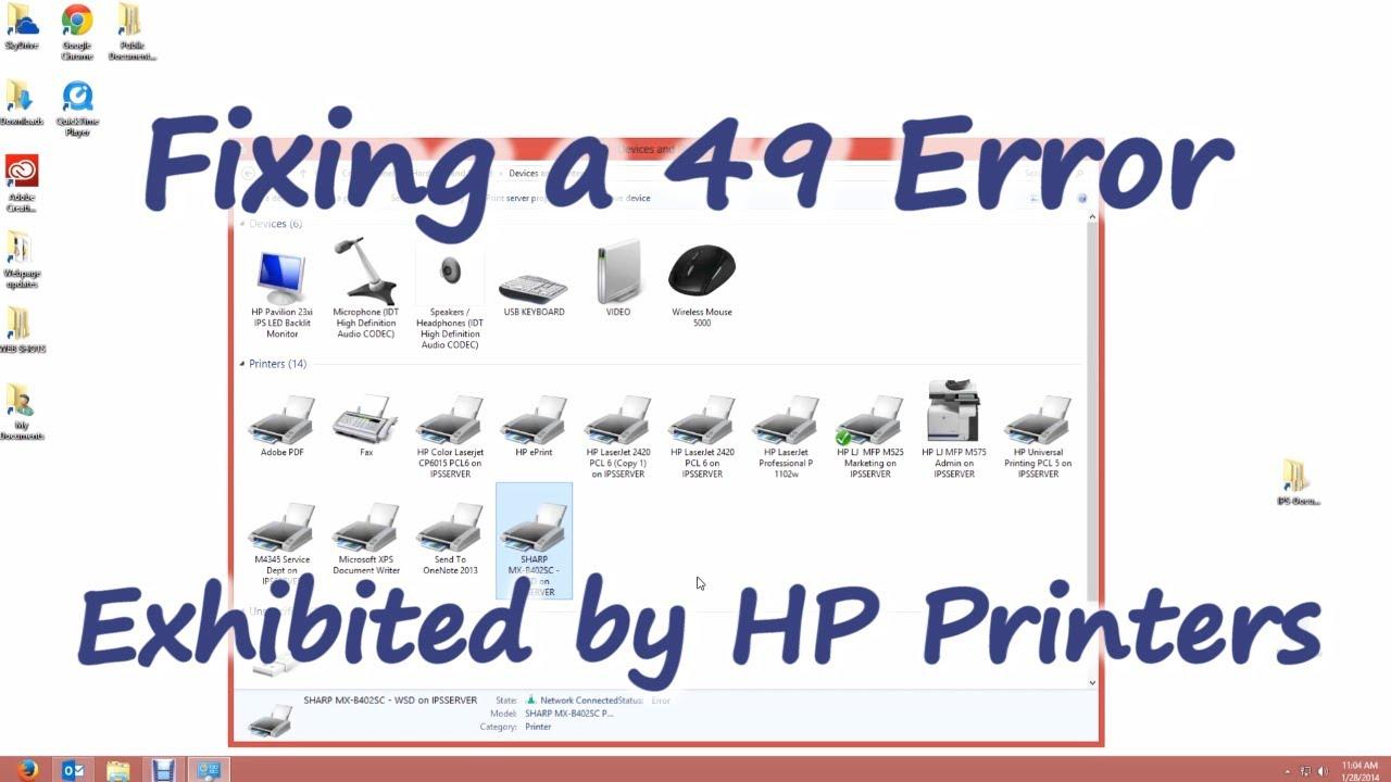 Fixing a 49 Error on HP Printers