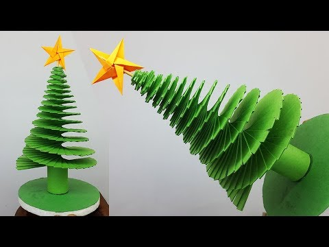3D Paper Christmas Tree | How to Make Paper Xmas Tree | DIY Christmas Crafts