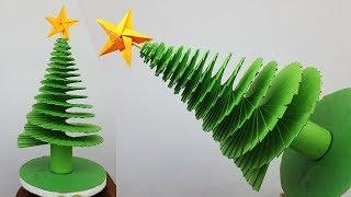3D Paper Christmas Tree | How to Make Paper Xmas Tree | DIY Christmas Crafts