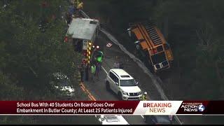 Mars Area school bus in rollover crash